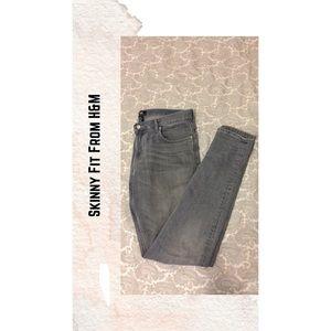 H&M Gray Jeans!!
